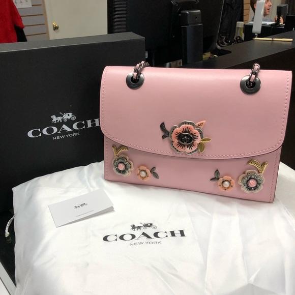 Coach Handbags - Coach Parker Tea Rose Leather Satchel